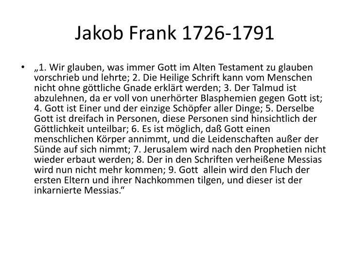Jakob Frank 1726-1791