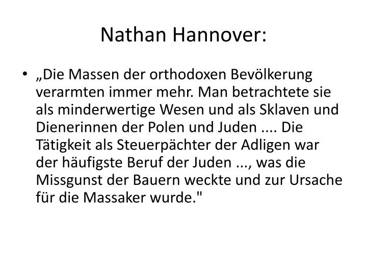 Nathan Hannover: