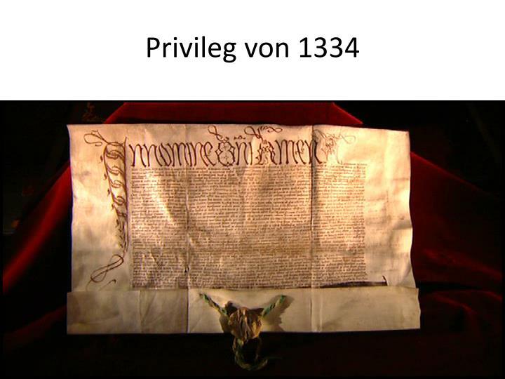 Privileg von 1334