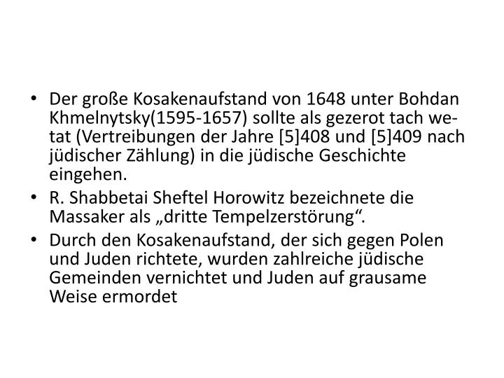 Der groe Kosakenaufstand von 1648 unter Bohdan