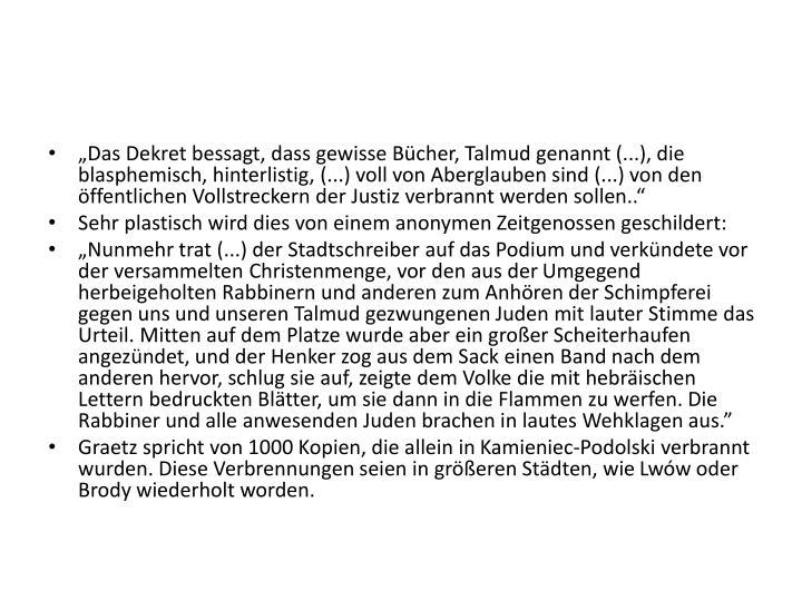 """""""Das Dekret"""