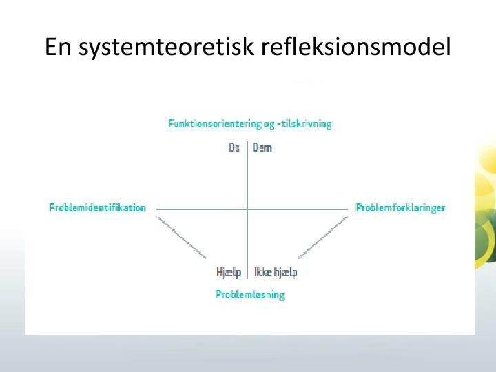 En systemteoretisk refleksionsmodel
