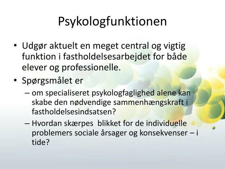 Psykologfunktionen