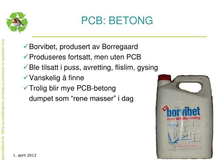 PCB: BETONG