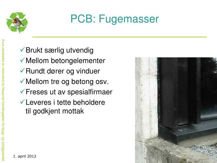 PCB: Fugemasser