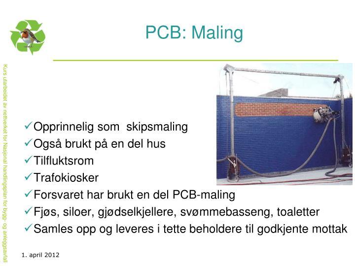 PCB: Maling