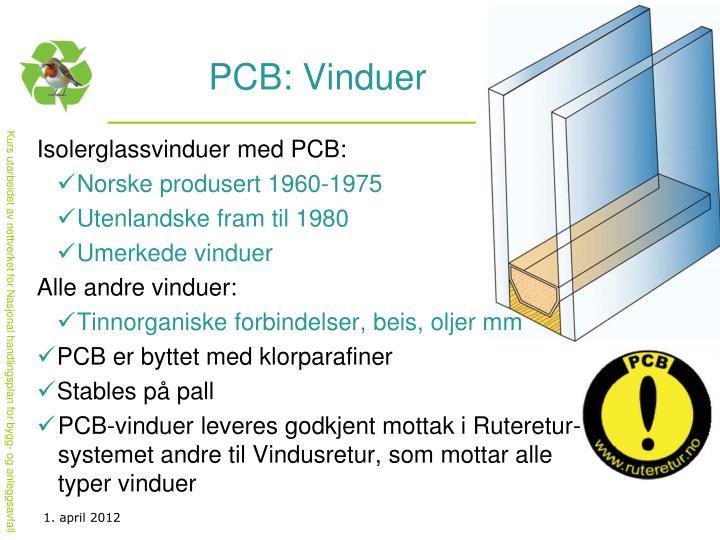 PCB: Vinduer