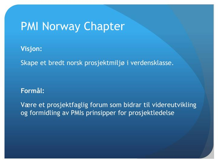 PMI Norway Chapter