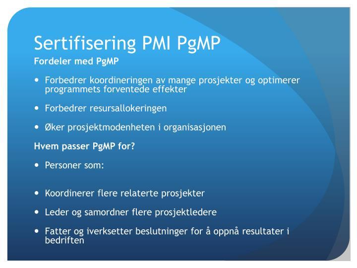 Sertifisering PMI