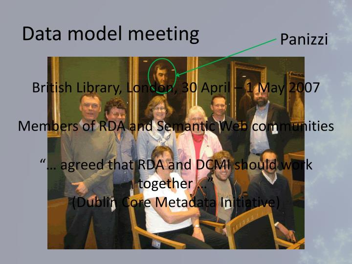 Data model meeting