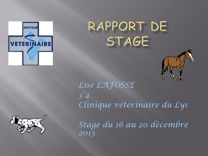 PPT - Rapport de stage PowerPoint Presentation - ID:2063668