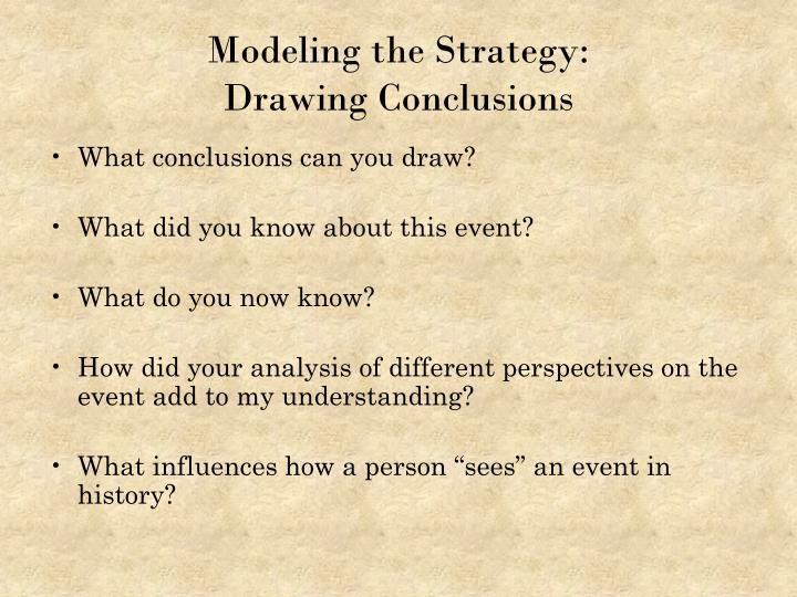 Modeling the Strategy: