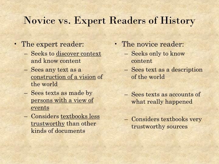 The expert reader:
