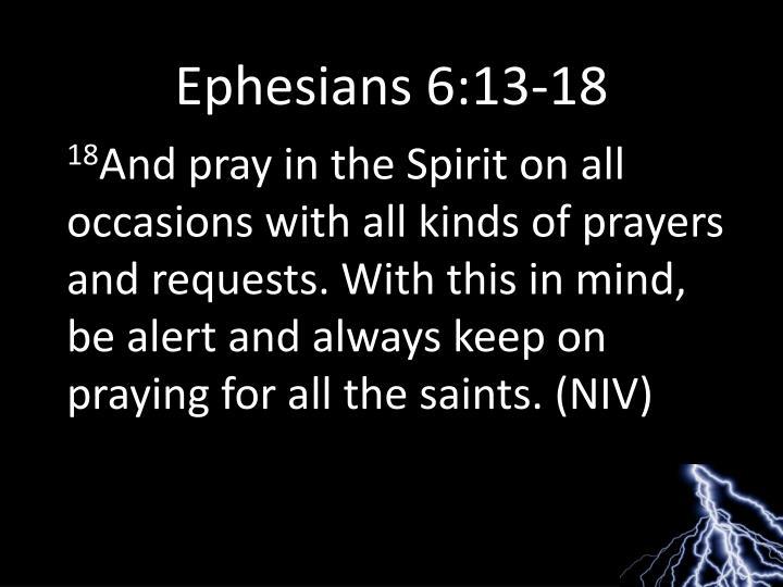 Ephesians 6:13-18