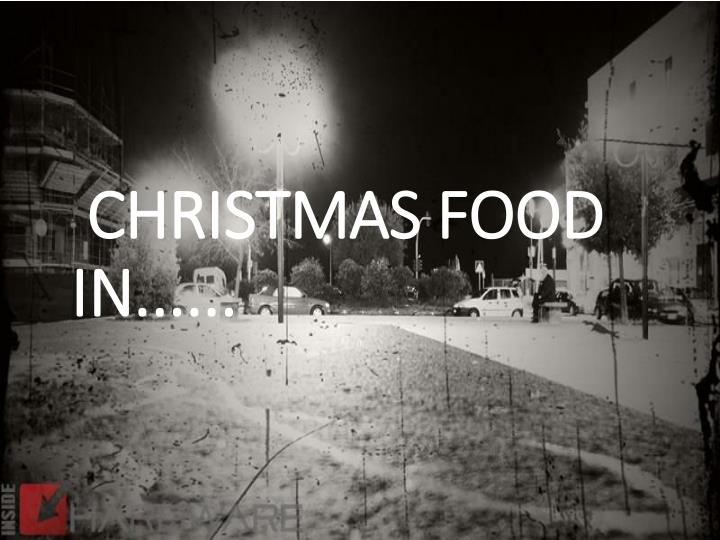 Christmas food in