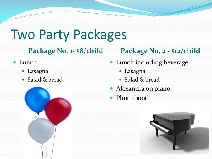 Two Party Packages