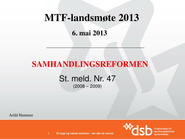 MTF-landsmøte