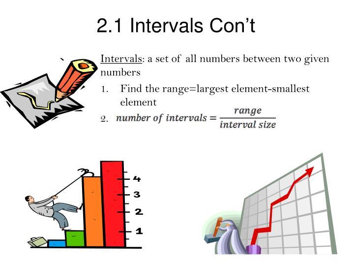 2.1 Intervals