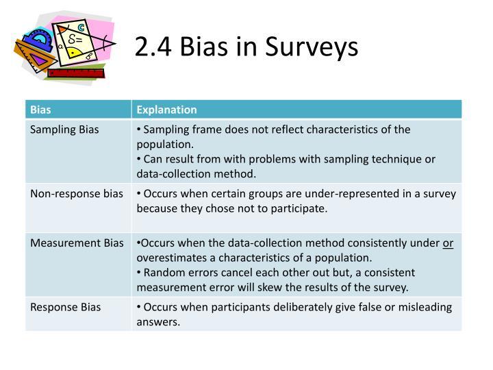 2.4 Bias in Surveys