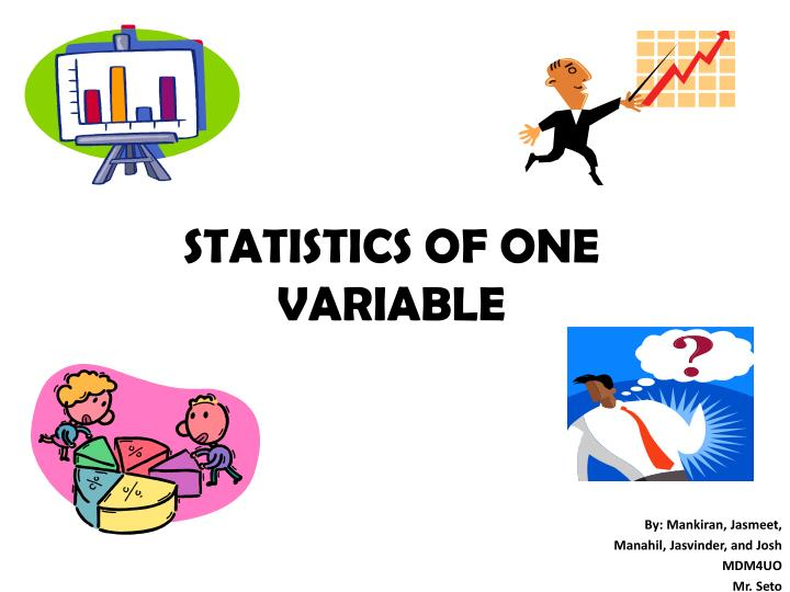 Statistics of one variable