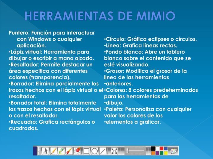 HERRAMIENTAS DE MIMIO