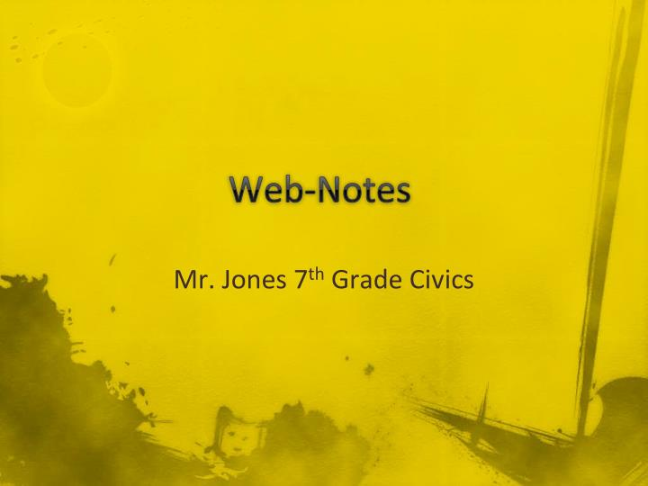 Web-Notes