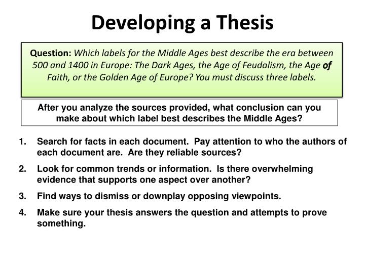developing the thesis and presentation Most graduate students at ubc will devote considerable amounts of time and  energy toward designing, developing, and presenting a graduate thesis or.