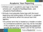 academic year reporting