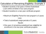 calculation of remaining eligibility example 3