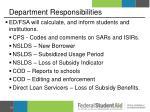 department responsibilities