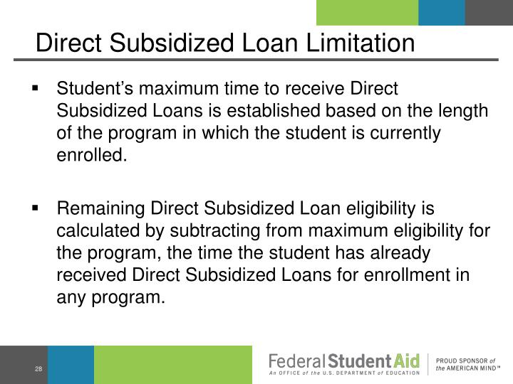 Direct Subsidized Loan Limitation
