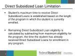 direct subsidized loan limitation