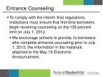 entrance counseling1