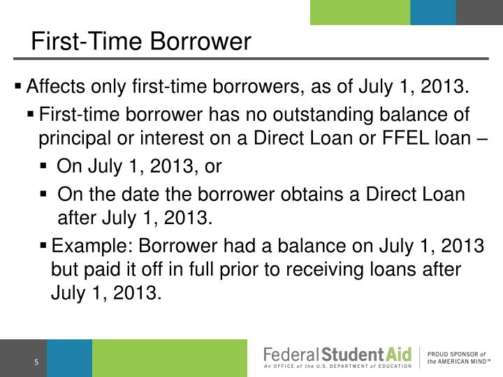 First-Time Borrower