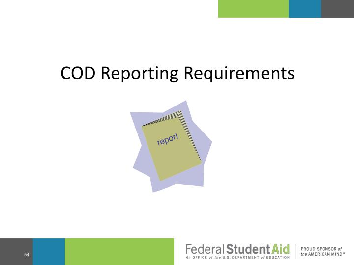 COD Reporting Requirements