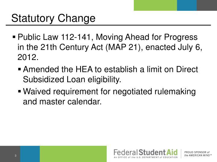 Statutory Change