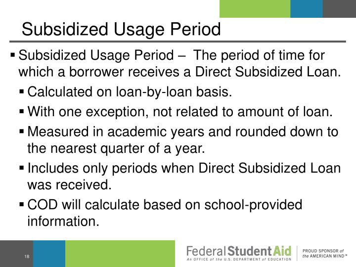 Subsidized Usage Period