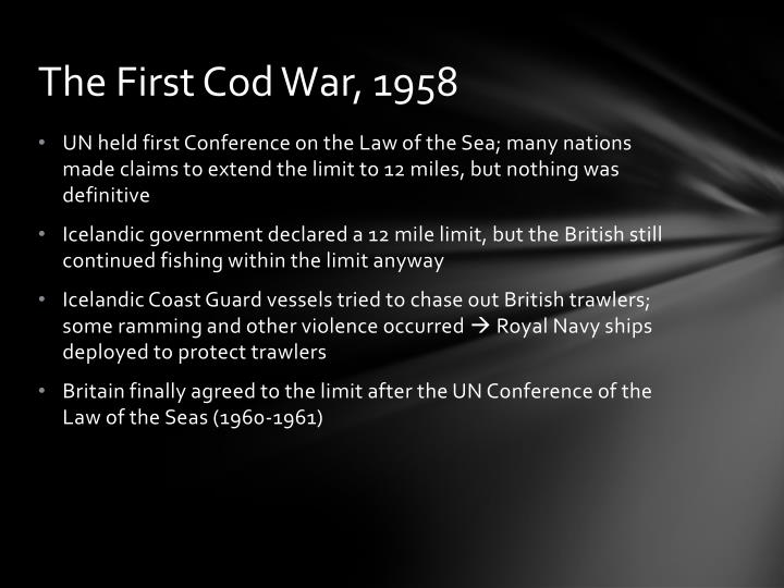 The First Cod War, 1958