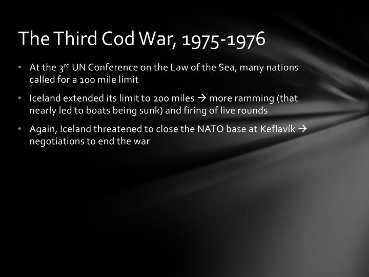 The Third Cod War, 1975-1976