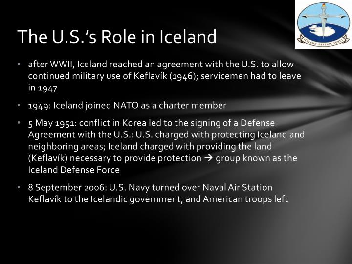 The u s s role in iceland