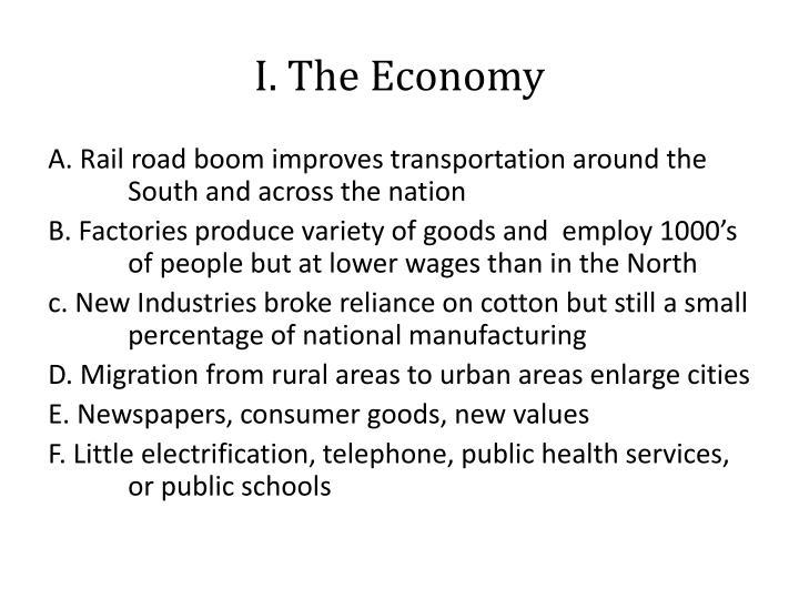 I. The Economy