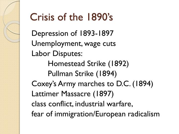 Crisis of the 1890's