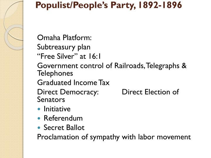 Populist/People's