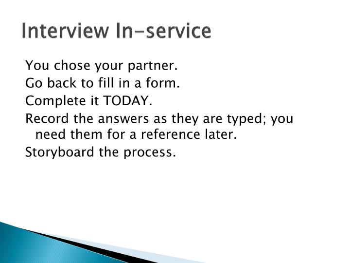 Interview In-service