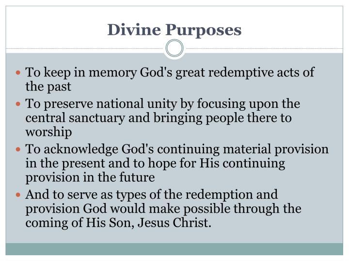 Divine Purposes