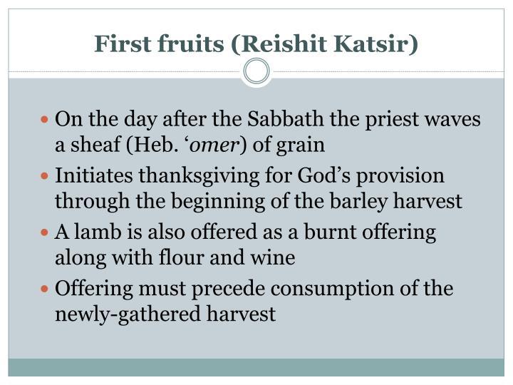 First fruits (