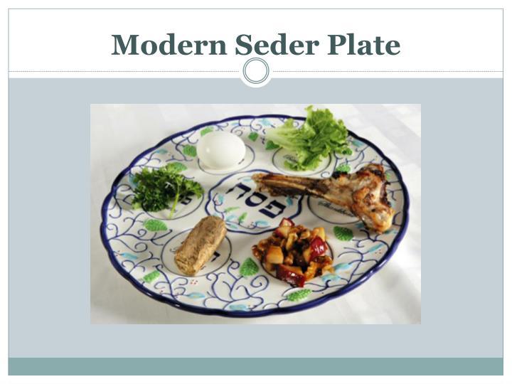 Modern Seder Plate