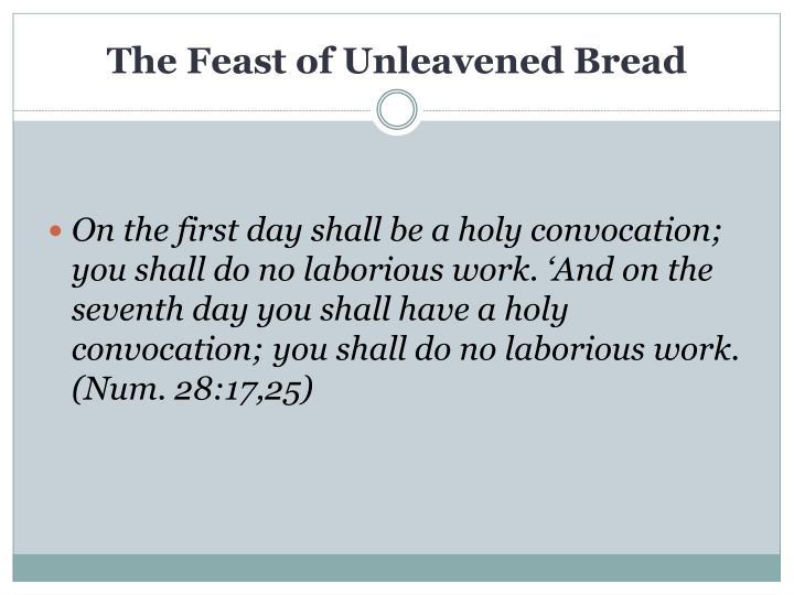 The Feast of Unleavened Bread