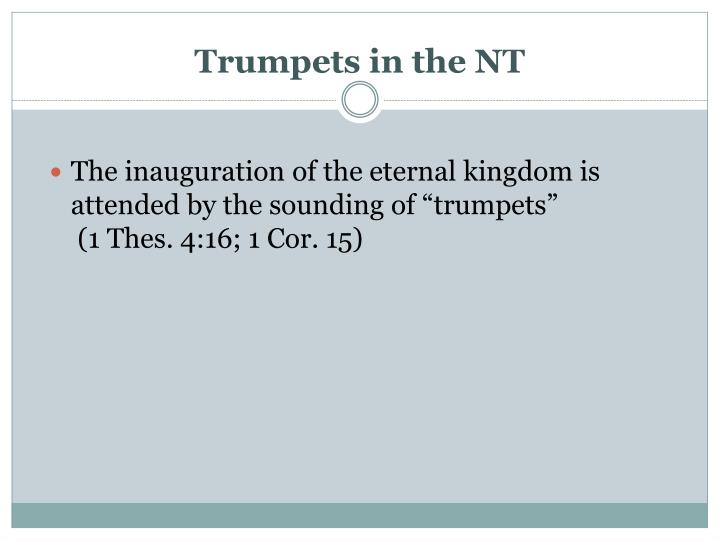 Trumpets in the NT