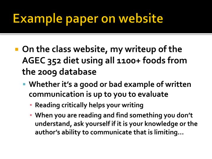 Example paper on website